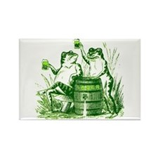 Drunk Frogs St Patricks Day Rectangle Magnet