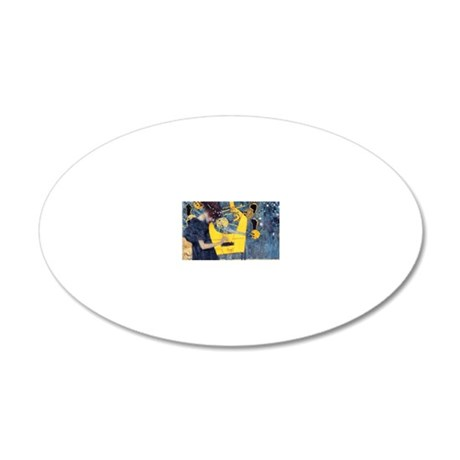 Coin Klimt Music 20x12 Oval Wall Decal