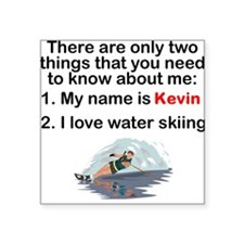 Two Things Water Skiing Sticker
