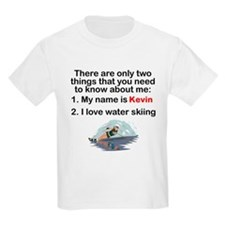 Two Things Water Skiing T-Shirt