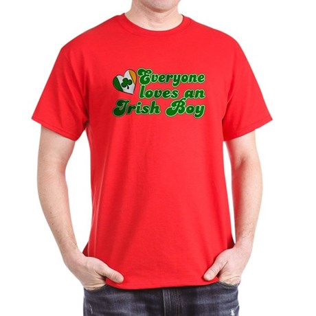 Everyone loves an Irish Boy Dark T-Shirt