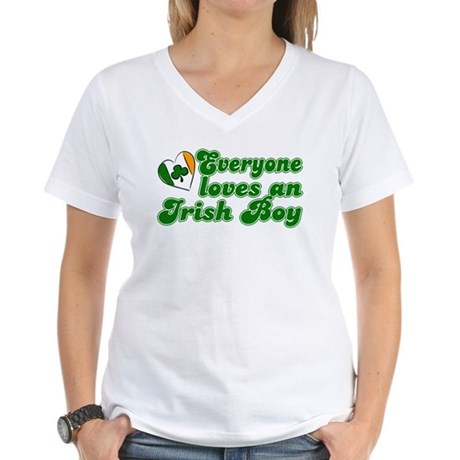 Everyone loves an Irish Boy Women's V-Neck T-Shirt