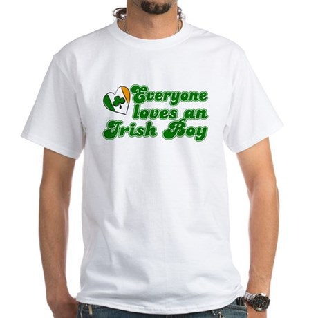 Everyone loves an Irish Boy White T-Shirt