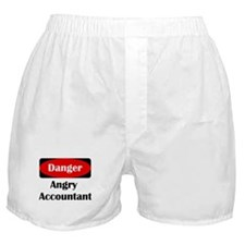 Danger Angry Accountant Boxer Shorts