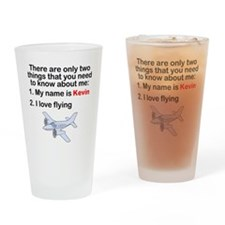 Two Things Flying Drinking Glass
