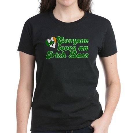 Everyone loves an Irish Lass Women's Dark T-Shirt