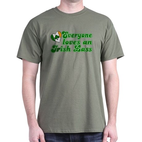 Everyone loves an Irish Lass Dark T-Shirt