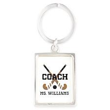 Personalized Field Hockey Coach Keychains