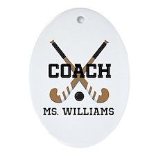 Personalized Field Hockey Coach Ornament (Oval)