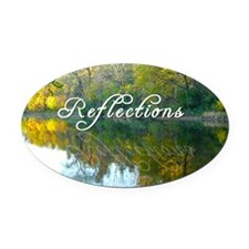 reflections Oval Car Magnet