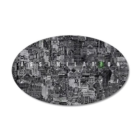 borg laptop 35x21 Oval Wall Decal
