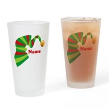 Personalized Elf Hat Drinking Glass