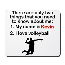 Two Things Volleyball Mousepad