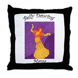 Belly Dancing Mama Throw Pillow