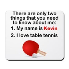 Two Things Table Tennis Mousepad
