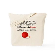 Two Things Table Tennis Tote Bag