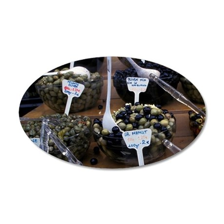 Europe, Italy, Rome. Olives  35x21 Oval Wall Decal