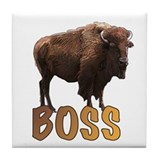 buffalo boss Tile Coaster