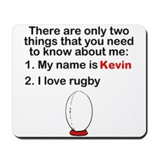 Two Things Rugby Mousepad