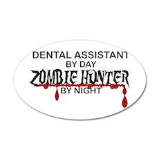 Zombie Hunter - Dental Asst 20x12 Oval Wall Decal
