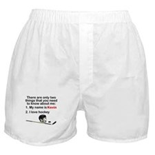 Two Things Hockey Boxer Shorts