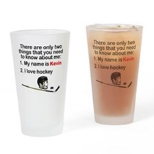 Two Things Hockey Drinking Glass