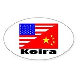 Keira Flags Oval Decal