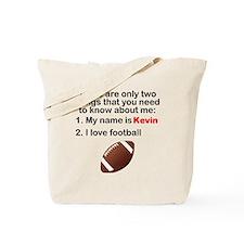 Two Things Football Tote Bag