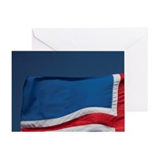 Icelandic flag. Greeting Card