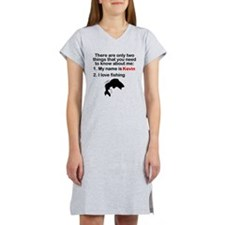 Two Things Fishing Women's Nightshirt