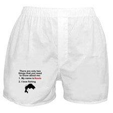 Two Things Fishing Boxer Shorts