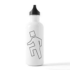 im shufflin outline bl Water Bottle