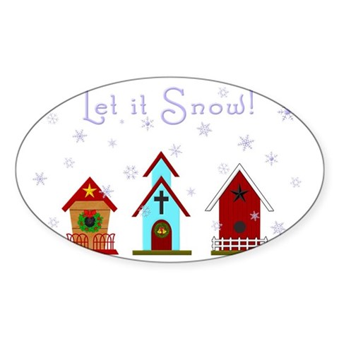 Let It Snow Decal