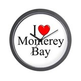 """I Love Monterey Bay"" Wall Clock"