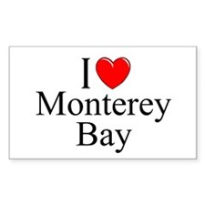 """""""I Love Monterey Bay"""" Rectangle Decal"""