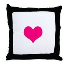 valentine heart be my 1 light Throw Pillow