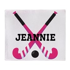 Personalized Field Hockey Throw Blanket