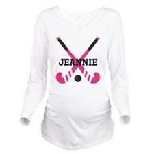 Personalized Field Hockey Long Sleeve Maternity T-