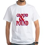 Ground & Pound White T-Shirt