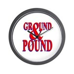 Ground & Pound Wall Clock