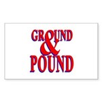 Ground & Pound Rectangle Sticker