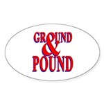Ground & Pound Oval Sticker