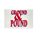 Ground & Pound Rectangle Magnet (100 pack)