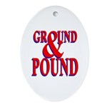 Ground & Pound Oval Ornament