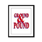 Ground & Pound Framed Panel Print