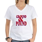 Ground & Pound Women's V-Neck T-Shirt