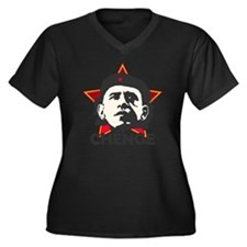 Che-Bama STA Women's Plus Size Dark V-Neck T-Shirt