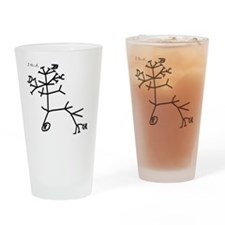 thinkingtree4cups Drinking Glass