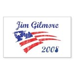 Jim Gilmore (vintage) Rectangle Sticker