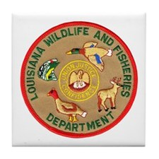 Louisiana Game Warden Tile Coaster